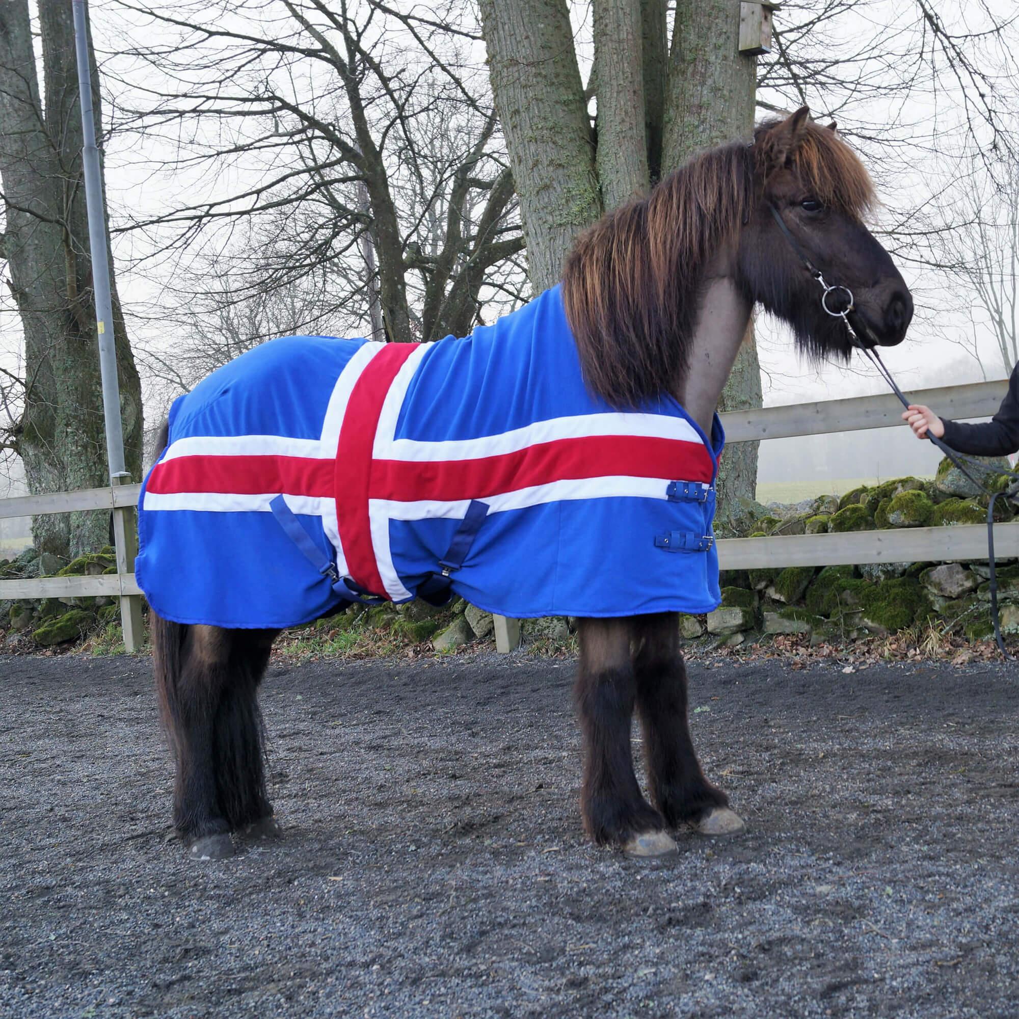 Fleecetäcke Iceland för hästen