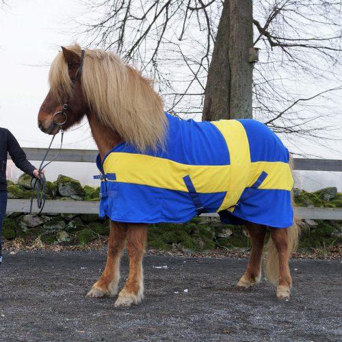 Fleecetäcke Sweden för häst